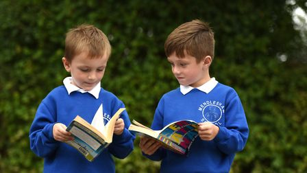 Children at Mendlesham Primary School reading their books Picture: SARAH LUCY BROWN