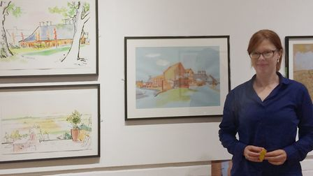 Artist Lucinda Rogers is exhibiting at Snape Maltings Picture: JO ROGERS