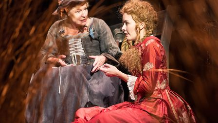 Annie Wensak as Mother and Eva-Jane Willis as Elizabeth Atkins the inspiration for Defoe's bawdy her