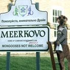 Aleksandr Orlov a Compare the Meerkat advert in Kersey, Suffolk which doubled for Meerkovo. Peterbo