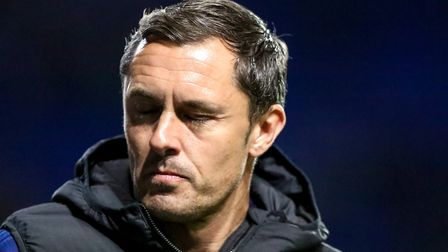 Paul Hurst has not won any of his 11 games as Ipswich Town manager. Picture: STEVE WALLER WWW