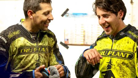 Argentinian duo Nico Covatti and Coty Garcia find something to laugh about in a season that wasn't m