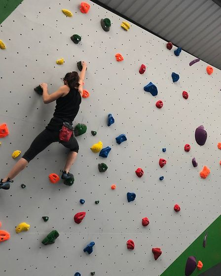 People have already returned to climb the wall for a second time since it opened last week. Picture: