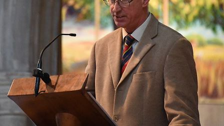 Robin Waters, chairman of the Tenant Farmers' Association (TFA), delivering his Harvest Report at th