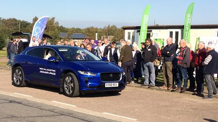 The new all-electric Jaguar I-Pace was a popular drive at the EV Driver Electric Vehicle Experience