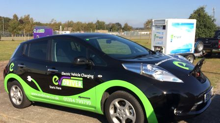 A Nissan Leaf at the experience day. Picture: Andy Russell