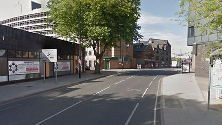 Police said it happened in the Princes Street area of Ipswich Picture: GOOGLE