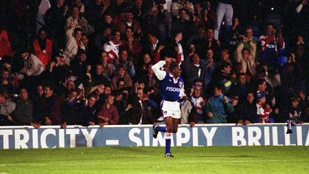 Chris Kiwomya scored a hat-trick on this day in 1992