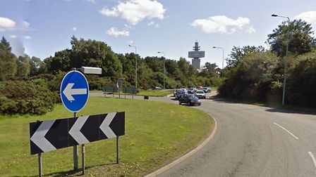 The crash happened on the A12 at Martlehsam Heath Picture: GOOGLE