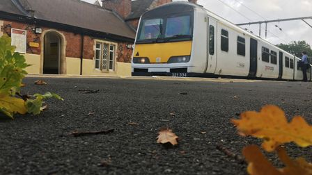 Greater Anglia and Network Rail have linked up to battle leaves on the line. Picture: NETWORK RAIL
