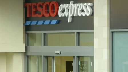 The incident unfolded at Tesco Express in St Andrew's Street South, Bury St Edmunds Picture: AR