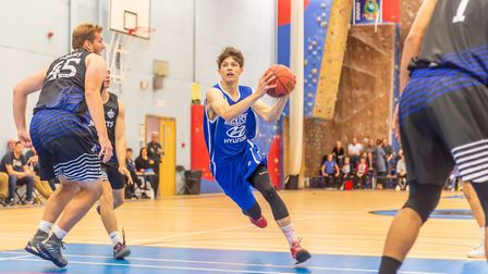 Ben Winter breaks through the defence on his way to the rim for Ipswich. Picture: PAVEL KRICKA