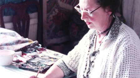 Anne Paterson Wallace in her studio Picture: Lance Cooper