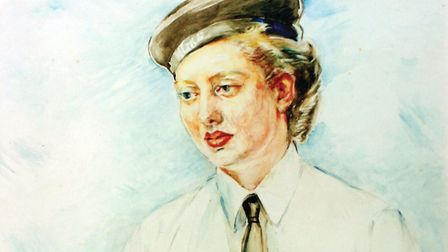 'Portrait in watercolour of Anne Paterson' by Agnes Sim Smythe RSW Picture: Lance Cooper