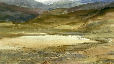 Watershed, a 1989 watercolour by Anne Paterson Wallace Picture: Lance Cooper