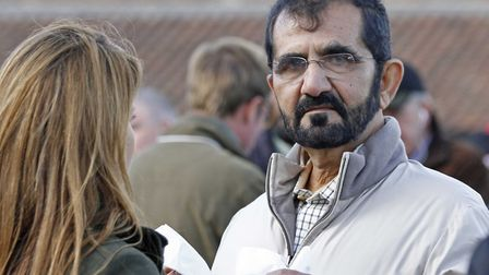 Sheikh Mohammed at Tattersalls in 2014. Picture: TATTERSALLS