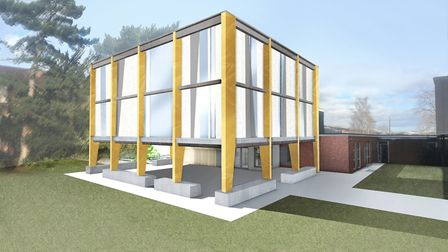 The proposed new library at Newmarket Academy. Picture: WINCER KIEVENAAR ARCHITECTS