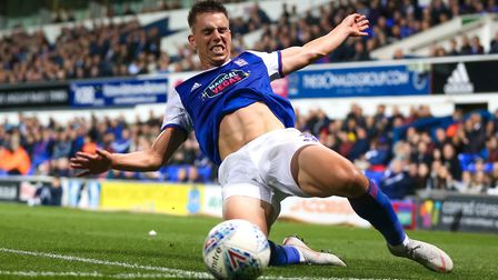 Anguish on the face of Jonas Knudsen as he fails to get to the ball late in the defeat to Boro. Pic