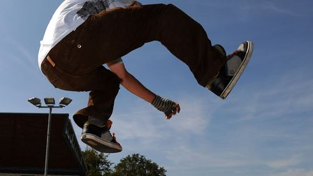 Skateboarders in a fundraising event at Woodbridge Skatepark in 2011 Picture: SIMON PARKER