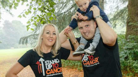 Bianca, Arthur and Owen Pearl Picture: MARK HEWLETT/CANCER RESEARCH UK