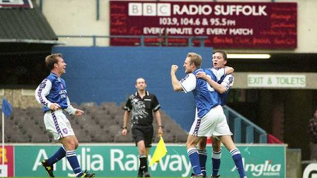 Mark Venus was among the scorers as the Blues beat Crystal Palace 3-0 at Portman Road in 1998