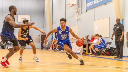 Veron Eze in action for Ipswich Basketball Club. Picture: PAVEL KRICKA