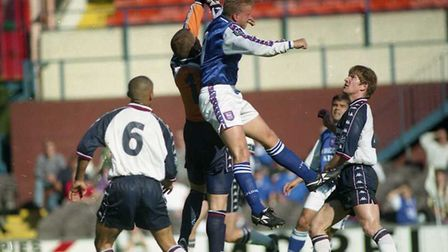 Alex Mathie scored as the Blues beat Man City 1-0 at Portman Road in 1997