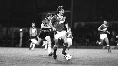 Kevin Wilson was among the scorers as Town beat Scunthorpe 2-0 at Portman Road in 1986