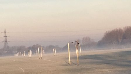 The famous football pitches on Hackney Marshes, where the Hackney Marshes parkrun takes place every