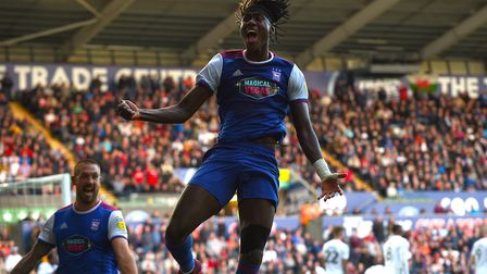 Trevoh Chalobah celebrates his winner at Swnasea City. Picture Pagepix
