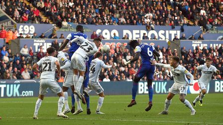 Trevoh Chalobah scores his winner at Swansea City Picture Pagepix