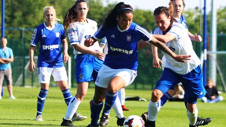Natasha Thomas scored twice for Ipswich Town in their 4-0 win over Denham United. Picture: ROSS HALL
