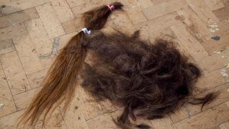 Ruth's 22 inch hair will be donated to charity. Picture: PETE INMAN