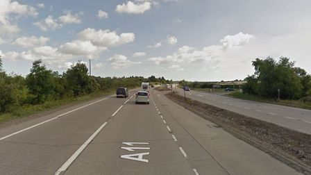 Police are attending a crash on the A11 at Barton Mills where two vehicles collided. Picture: GOOGLE