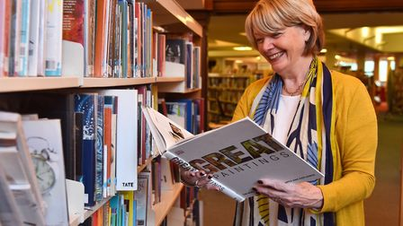Marion Harvey enjoying a non-fiction book at Ipswich County Library Picture: SONYA DUNCAN