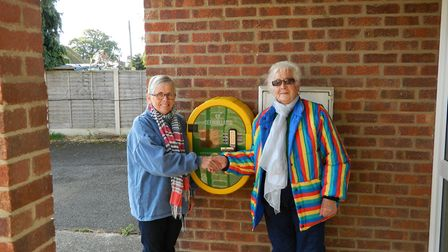 District councillor Susan Harvey and parish councillor and village hall chairman Evelyn Bloomfield u