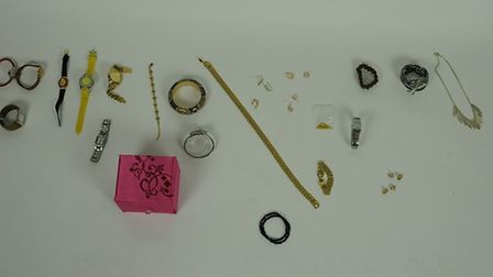 Suffolk police are asking people who recognise these items to contact them Picture: SUFFOLK CONSTABU