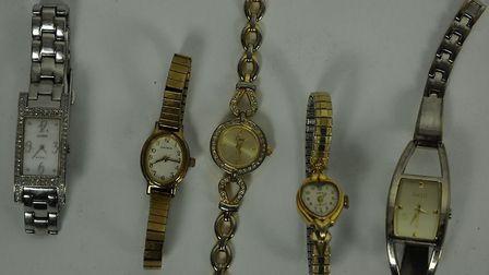 These watches were also recovered following a raid on a Mildenhall property Picture: SUFFOLK CONSTAB