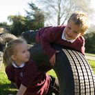 Pupils at Burston and Tivetshall Primary Schools Picture: SARAH STURDY