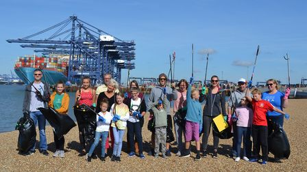 Staff and their families from Hutchison Ports UK collected litter at the John Bradfield viewing area
