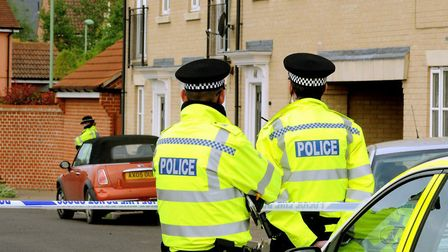 The scene in Bullrush Crescent on the day of Mary Griffiths' murder Picture: ANDY ABBOTT