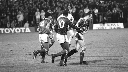 Dalian Atkinson scored twice as Town beat Port Vale 3-0 in the League Cup on this day in 1988