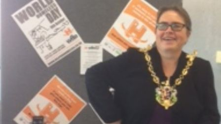 Ipswich mayor Jane Riley at the Homeless event Picture: ILHP