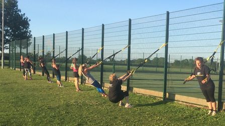 Kelly Goody's bootcamp class in action. Picture: KELLY GOODY