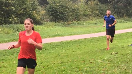 Katie King, of Saint Edmund Pacers, who was sixth overall and the first female finisher on Saturday.