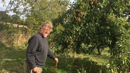 Paul admires an Old Warden pear tree