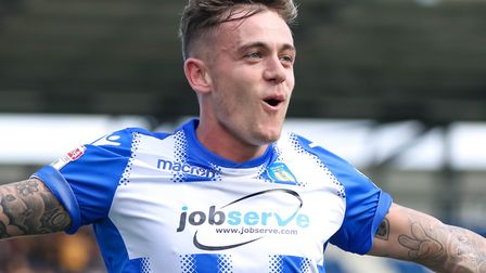 Sammie Szmodics, who steered Colchester United into an early lead at Stevenage this afternoon. Pictu