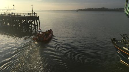 Harwich RNLI was launched to reports of a yacht in difficulty Picture: HARWICH RNLI
