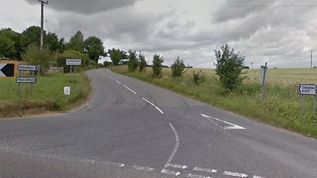 The junction with Winston near Framsden where the collision occurred Picture: GOOGLE MAPS