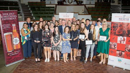 All the winners of 2018 West Suffolk Sports Awards. Picture: PHIL MORLEY
